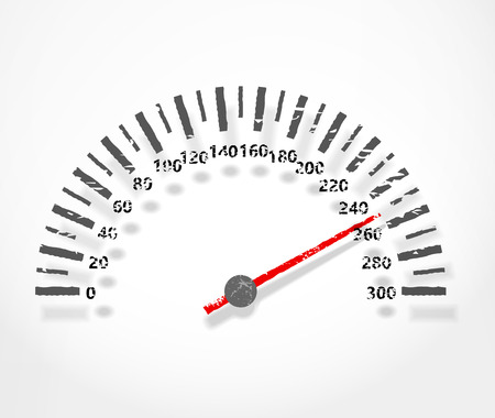 rpm: Speedometer. Abstract dashboard with shadow Illustration