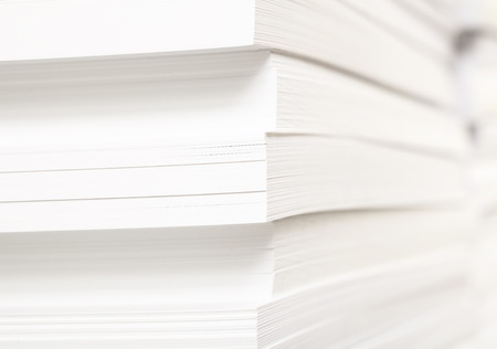 Stack of clean sheets for typographical printing Banque d'images