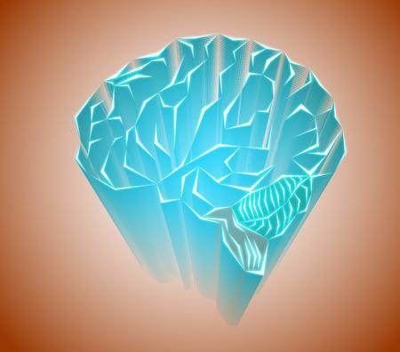 gyrus: Labyrinths of the human brain Stock Photo