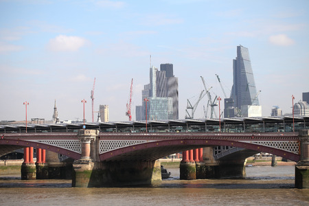 famous industries: One of the bridges in central London Stock Photo