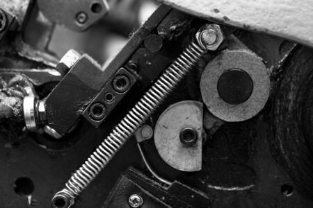 Metal parts of the mechanism an industrial equipment photo