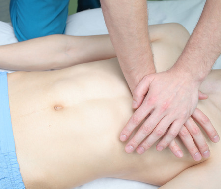 compressions: cardiopulmonary resuscitation Stock Photo