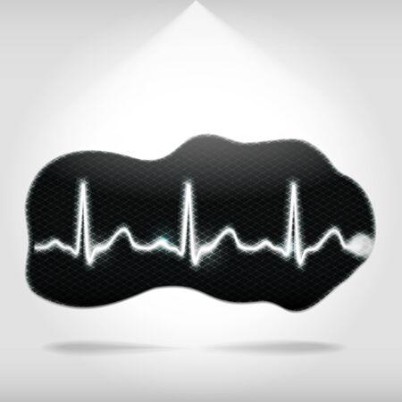 heartbeat monitor: Heartbeat monitor pixelated fragment Stock Photo