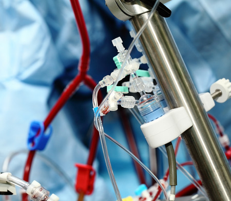 apparatus: Artificial blood circulation apparatus in the intensive care unit Stock Photo