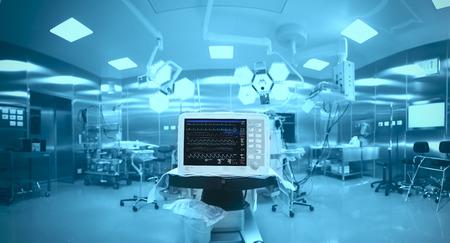 equipos medicos: Tecnolog�a innovadora en un moderno quir�fano de un hospital