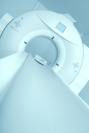 laser surgery: Newest CT, MRI scanner in a modern hospital