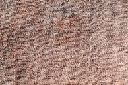 old macro: Old shabby textured canvas background macro