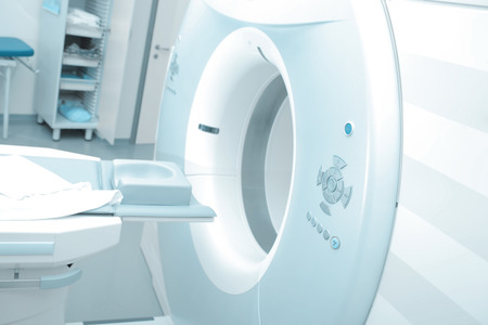 MRI machine in modern hospital ready to start