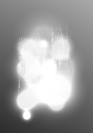 exploratory: Glare of light on an abstract gray surface with the  metal