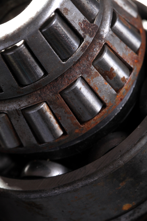 obsolete: Obsolete roller bearing in rust macro