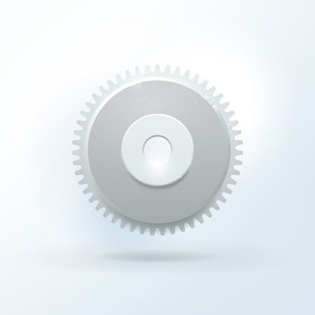 rackwheel: Gear with scratches and shadows Illustration