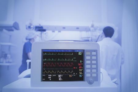 La monitorización del paciente en la UCI Foto de archivo