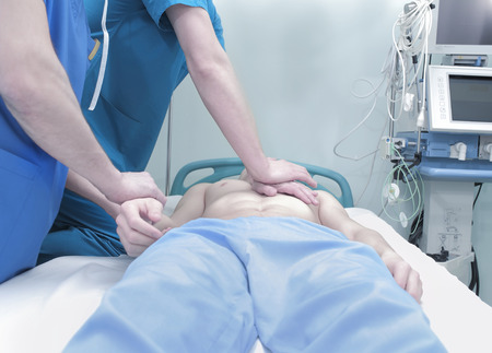 compressions: Patient`s cardiopulmonary resuscitation in the hospital