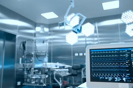 egészségügyi: A vitális jelek monitorozását és a beteg a műtőben Stock fotó