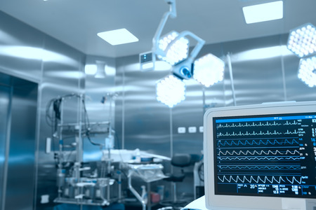 medical light: Monitoring of vital signs of the patient in the operating room