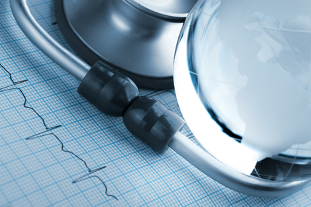 prevalence: Prevalence of cardiovascular diseases in the world Stock Photo