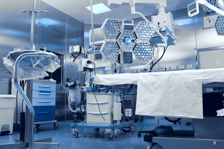 Technological advanced equipment in clinical operating room Stockfoto