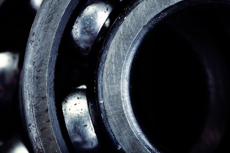 milling rolling: Fragment of bearing for industrial background Stock Photo
