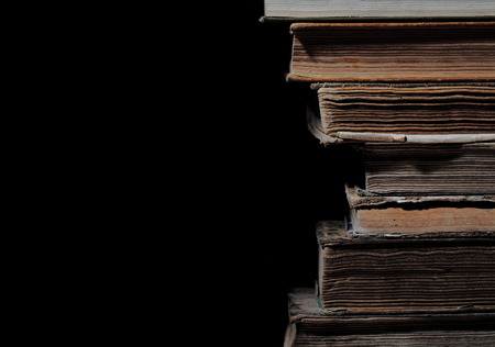 civil law: Old books in a stack, isolated