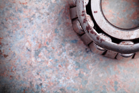 milling rolling: Bearing as part of the industry and space for text Stock Photo