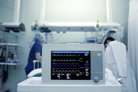 重病人的血流動力學參數 版權商用圖片
