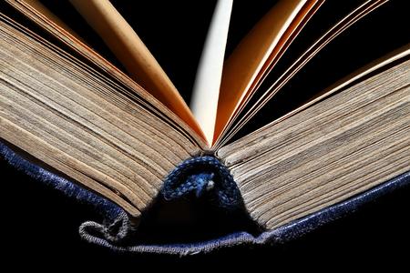 bibliophile: Open old book
