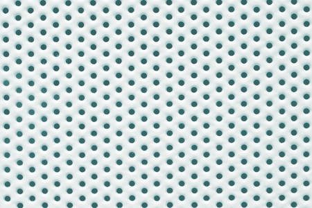 vegetable carbon: Perforated white painted metal