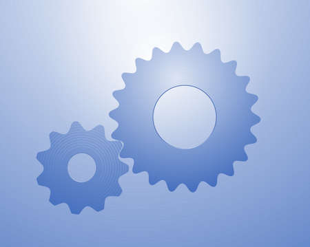 Two coupled gear