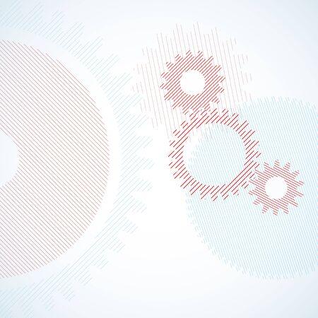 pinion: Rotating pinion in geometric style.