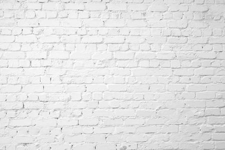 Loft styled white brick wall.