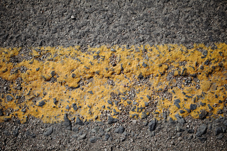 markings: Worn road markings with space for your text Stock Photo