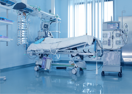 Severely ill patients  in ICU and the dialysis machine