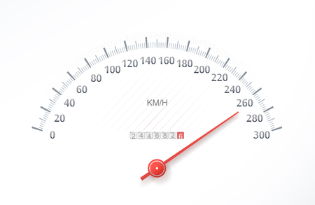 racecar: High speed on sports speed meter