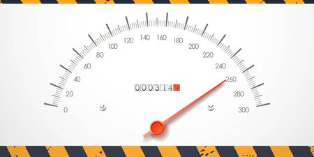 km: Dangerous speed value on the speed meter