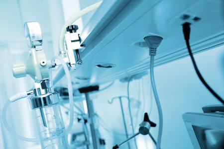 oxygen: Disposición del panel de gas en el hospital.