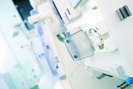 medical technical equipment: Fragment of medical equipment, hospital background.