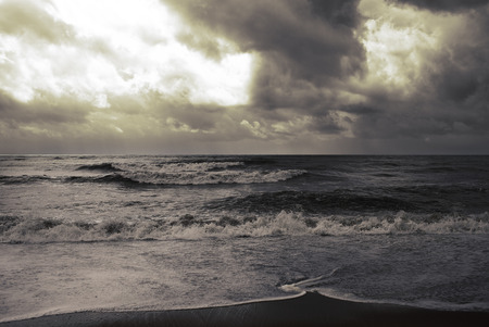 premonition: Stormy weather on the seaside