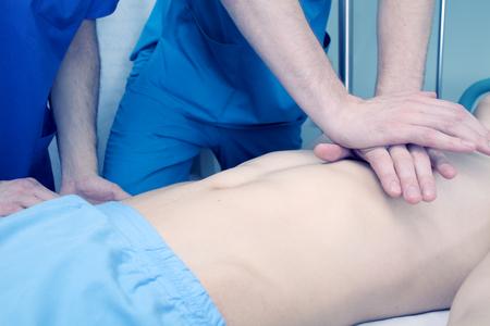 cardiopulmonary resuscitation: Practice in cardiopulmonary resuscitation of a medical team.