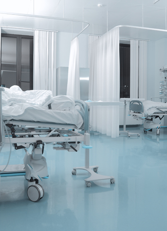 health care facility: Chamber of infectious patient in hospital.