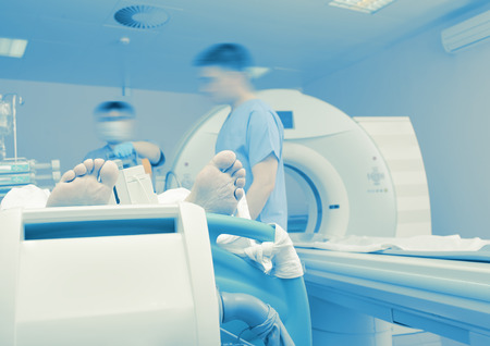 health care facilities: Examination of a critically ill patient to the CT scan.