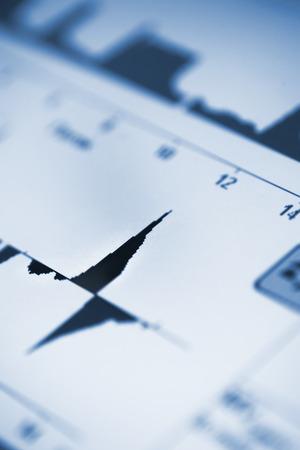 parameter: Computer graph of market development.