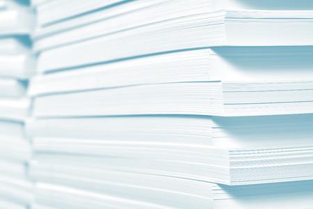 Reserva de papel en la imprenta. Foto de archivo