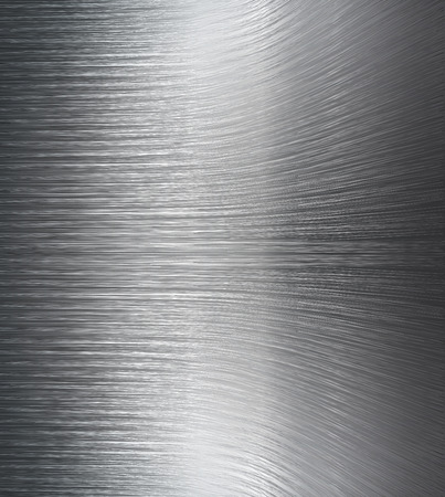 chrome base: Bent metal surface as a universal abstract black and white background