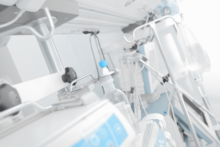 Console in the intensive care unit. Stockfoto