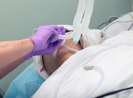 anesthetist: Tracheal intubation of patient in the ICU.