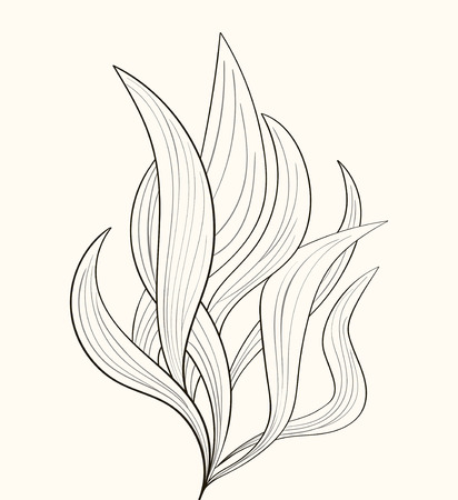 tattooed: Fire flames or abstract plant