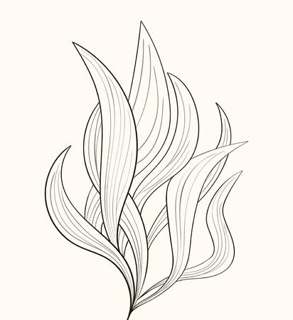flammes de feu ou de la plante abstraite