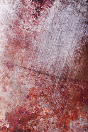 cast iron red: Old rusty scratched metal sheet.