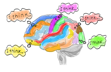 crinkles: Thinking working human brain