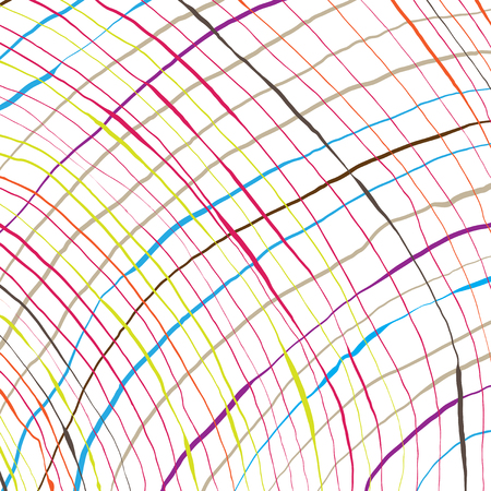 Colorful hand-written lines Vector Illustration